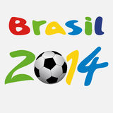 Vector illustration brasil 2014. On white background Royalty Free Stock Photos