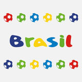 Vector illustration brasil 2014. On white background Stock Photography