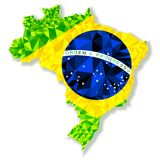 Vector illustration of Brazil isolated Royalty Free Stock Image