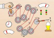 Breakfast egg breaking machine. Vector illustration of a breakfast egg breaking machine Stock Illustration