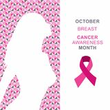 Vector Illustration Breast Cancer Awareness Month. Royalty Free Stock Images