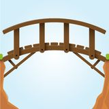 Vector illustration. Bridge. Stock Photography