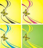 Vector illustration. Bright butterfly Royalty Free Stock Images