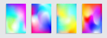 Vector illustration of bright color abstract pattern background with concentric circles and fluid color effect for Stock Images