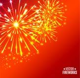 Vector illustration of bright fireworks. Vector Illustration of bright Fireworks Royalty Free Stock Photos