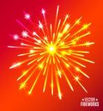 Vector illustration of bright fireworks. Vector Illustration of bright Fireworks Stock Photography