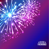 Vector illustration of bright fireworks. Vector Illustration of bright Fireworks Royalty Free Stock Photography