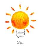 Vector illustration -- bright idea Royalty Free Stock Image