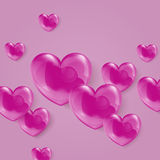 Vector illustration of a bright shiny pink polka Stock Photos