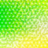 Vector illustration of bright shiny spring abstract background  - green and yellow spring and summer colors Royalty Free Stock Photography