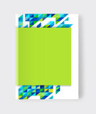 Vector illustration of a brochure template. Modern booklet, flye Royalty Free Stock Photography