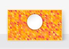 Vector illustration of a brochure template. Modern orange  Stock Photography