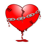 Vector illustration of a broken heart Stock Images
