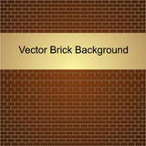 Vector illustration of brown brick wall Royalty Free Stock Photos
