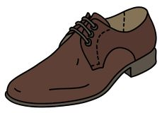 The brown leather shoe. The vector illustration of a brown leather mens shoe vector illustration