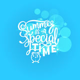 Vector illustration Brush lettering composition of Summer quotes on white background. Summer lettering for cards Stock Images