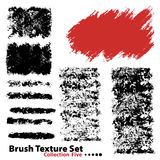Vector illustration brush set 5 Stock Photos
