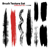 Vector illustration brush set 6 Royalty Free Stock Image