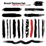 Vector illustration brush set 7 Royalty Free Stock Images