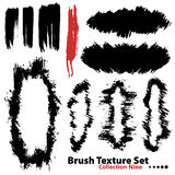 Vector illustration brush set 9. Vector outline traces of customizable organic paint brushes (strokes) and frames in different shapes and styles, highly detailed Stock Image