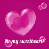 Vector illustration of bubble heart Royalty Free Stock Image