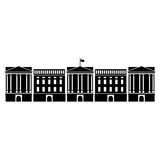 Vector illustration of Buckingham Palace of London Stock Images