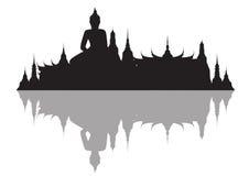 Vector illustration of buddha royal palace Stock Photo