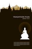 Vector illustration of buddha royal palace Royalty Free Stock Image