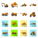 Vector illustration of build and construction icon. Collection of build and machinery stock vector illustration. Isolated object of build and construction vector illustration