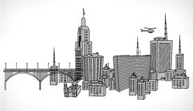 Vector illustration of building of sao paulo Stock Image