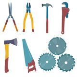 Vector illustration of the building tools. Building tools vector illustration set stock illustration