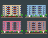 Vector illustration of buildings Stock Photo