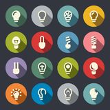 Vector illustration. Bulb icon set Royalty Free Stock Photography