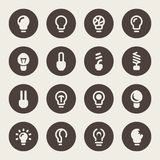 Vector illustration. Bulb icon set Royalty Free Stock Photos