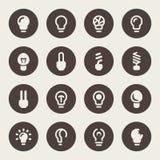 Vector illustration. Bulb icon set Royalty Free Stock Photos