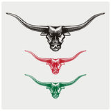 Vector illustration of the bull heads Royalty Free Stock Images