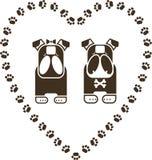 Vector illustration of Bulldogs. Vector illustration of two Bulldogs Stock Image