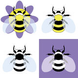 Vector illustration of a bumble bee Stock Photography