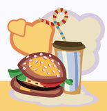 Vector illustration of Burger drink with Stock Photos