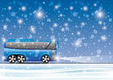 Vector illustration. Bus. Royalty Free Stock Photography