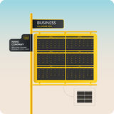 Vector illustration with business calendar 2016 Royalty Free Stock Image