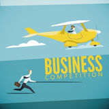 Vector illustration of business competition Stock Image