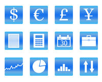 Vector illustration of business icons Stock Photos