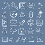 Vector illustration of business icons. Vector illustration, EPS10 Royalty Free Stock Images