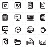 Vector illustration of business icons. Vector illustration set of business icons  communication Royalty Free Stock Images
