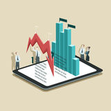 Vector illustration of business infographic concept with busines Stock Images