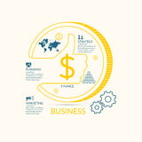 Vector illustration for business infographics with money Stock Photo
