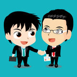 Vector illustration - Business people shaking hands. Vector illustration Business people shaking hands with Illustrator Stock Photography