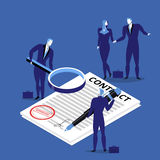 Vector illustration of business people signing contract. Business agreement concept flat style design stock illustration