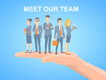 Vector illustration of a business team of young business people Royalty Free Stock Photography